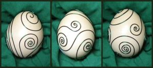Metallic Green Easter Egg by Zorias