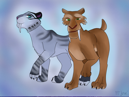 ice age 4: shira and diego by frecitha98