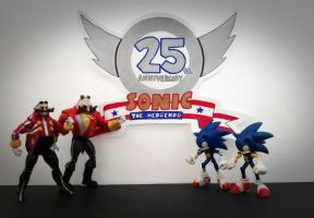 THE 25th ANNIVERSARY OF SONIC THE HEDGEHOG by ArtKing3000