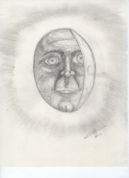 Man In The Crescent Moon by mouseanderson