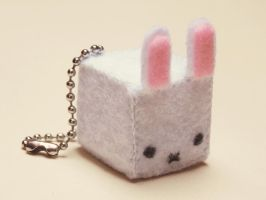 Felt bunny key chain by Kyandi-charms