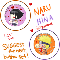 Button Set - Naruto: NaruHina by XxoOjunefoxOoxX