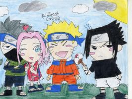 Naruto and friends by Jscsonic