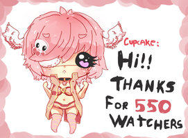 Thanks for 550 Watchers ! by Ayuki-Shura-Nyan
