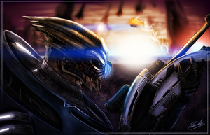 Scoped and Dropped - Mass Effect Speed Art - 6hrs by IceDragonhawk