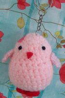 Amigurumi Chicken Keychain by ImuruDin