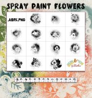 SprayPaint Flowers by Diamara