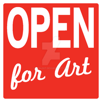 Square of Artwork - Open for Art by Ajn4307