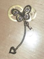 Steampunk Butterfly Brooch by DemoraFairy