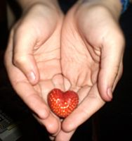 strawberry heart by waterlily5