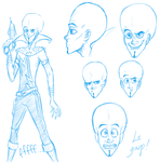 Megamind sketches by HollywoodVoodoo