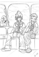 Roxas and Hayner in train by Autumn-Sacura