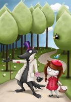 Little Red Riding Hood meets Big Bad Wolf by jelena1001