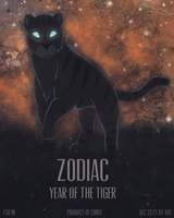 Zodiac Wine: Year of the Tiger by Spazzel
