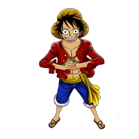 Luffy Lineart Coloring (Rendered) by Rondey84