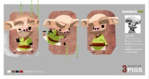 Bamboo Pig by prmn