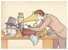 Gentleman and Phonographs by XIXDeviant