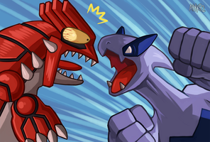 Groudon VS Lugia by ayyk92
