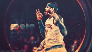 Carmelo Anthony Nyk Wallpaper - Version 2 by EsegaGraphic