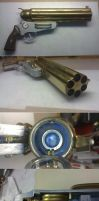 Steampunk Gruenwald Pepperbox Pistol 1.0 by Arsenal-Best