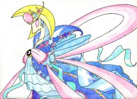 Cresselia(Pokemon Contest Outfit) by BluDraconoid