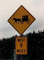 Amish Buggy Sign by Kagedfish