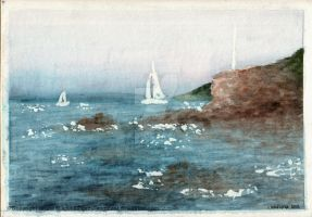 The Shore of St Tropez by LadyFromEast