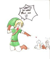 link and cats by hagehidoku