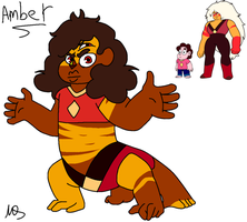 Mirror!Steven AU - Amber Re-design by Mushroom-Cookie-Bear