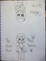 The White Moon's Double Life Line Art by AlyHisanaKurosaki16