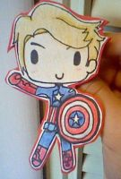Captain America Pin! by SquishyHattress