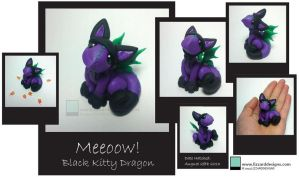 Black Kitty Dragon by lizzarddesigns