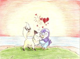 kilala and piplup by Navy-x