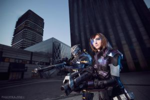 Garrus and Shepard cosplay. by Nebulaluben