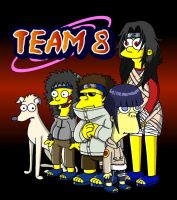 Naruto Simpsons - Team 8 by lloydvdw