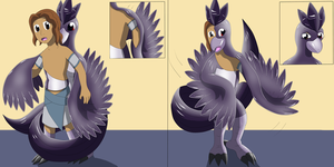 Comission: Shadow Articuno Girl TF TG Part 1 by PhoenixWulf