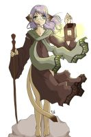 Gingham Hermit Tarot colour by quark777