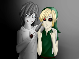 Jeff the Killer and Ben Drowned by NekoXemi