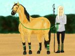 Training with Baltazar by Golden-Horse-Stables