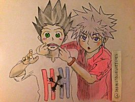 Hunter X Hunter by deepestbluesketches