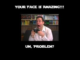 AVGN Reaction Face by thephilipvictor