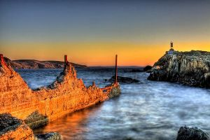 Sunset at the Breakwater HDR by Witch-Dr-Tim