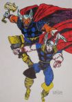 Thor-n-Beta Ray Bill by chrisryall