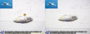 Papercraft Advance Wars Blue Moon Fighter WIP1 by ninjatoespapercraft