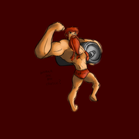 body builder Gragas skin idea doodle by NerdyNation