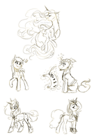 Commission Sketches by Sutexii