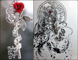 Puzzle Rose Key by shienys