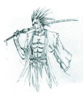 Bleach: Zaraki sketch by irving-zero