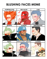 PKMN: Blushing faces meme ft. Bosses by VallatonVompsu