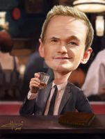 Barney Stinson Caricature 2 by Chudi